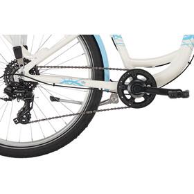 """Puky Skyride Light 24"""" Børnecykel 8-speed, forniklet blå/hvid"""